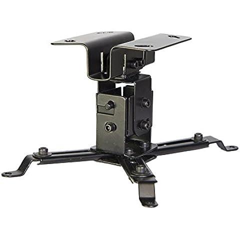 ® Luxburg-kit de soporte universal de techo para proyector 0-180 cm, 15 kg, apoya 30 grados - noir