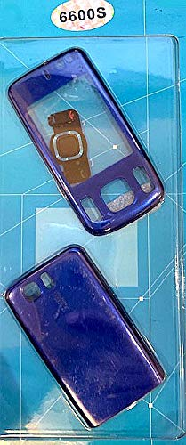 Nokia 6610S Slide Blue Replacement Housing faceplate Fascia Facia case Cover Handy Bezel -