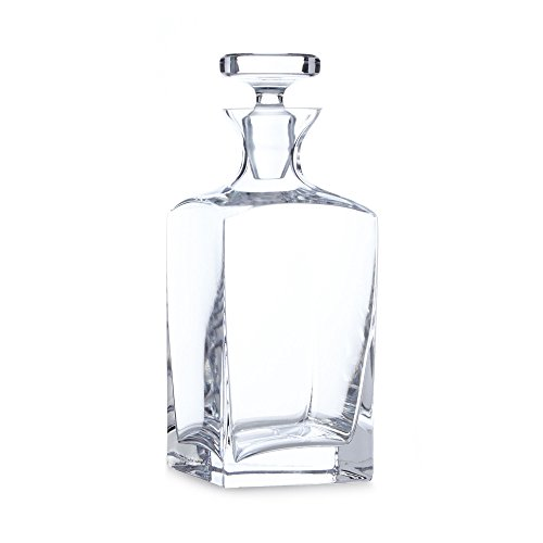 J By Jasper Conran Designer Glass Square Decanter, used for sale  Delivered anywhere in UK