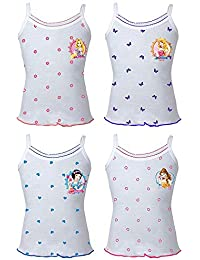 BODYCARE Girls Printed Vest (Pack of 4)