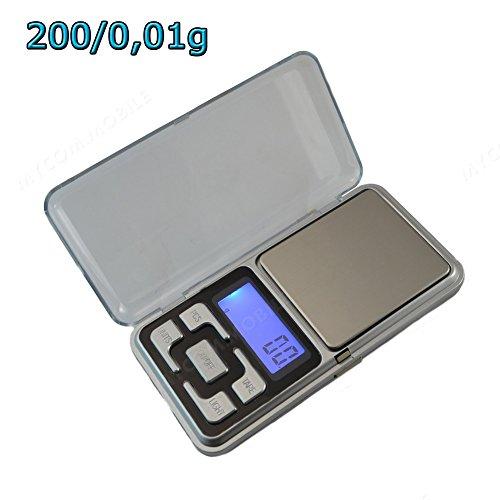 Feinwaage Taschenwaage Waage Goldwaage Digital Waage Pocket Scales 200g/0,01g (Scale Pocket)