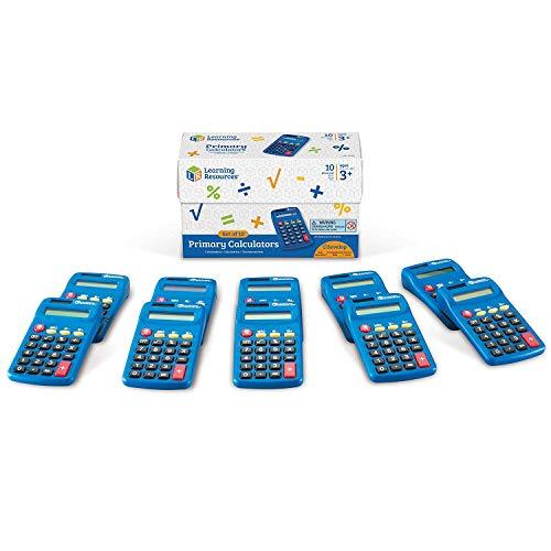 Learning Resources- Calculadora básica (Set de 10), Color (LER0038)