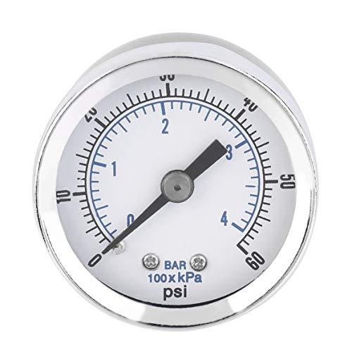Kongqiabona hohe qualität 1/8 '' NPT Luftkompressor Hydraulische Manometer 0-60 PSI Zurück Montieren Worldwide Shop - 60 Psi-manometer