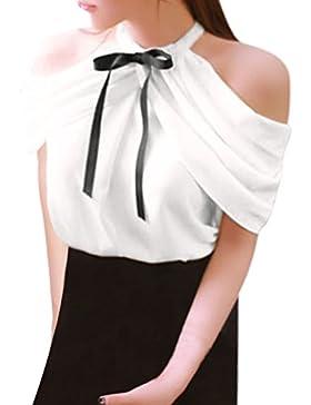 Vovotrade Camisetas sin mangas del vendaje de las mujeres