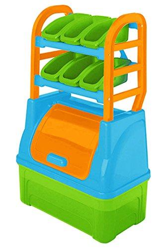 Kinder Aufbewahrungsregal Organizer Kiste Spielzeugbox 62x35x94cm