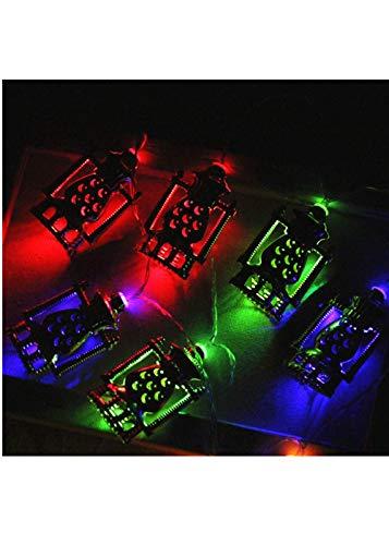 10 LEDs Lichter Muslim Ramadan und Eid Decor Lights Garten Lampe für Zimmer Dekoration Party, Garten, Weihnachten, Halloween, Hochzeit, Beleuchtung Deko (Gold)