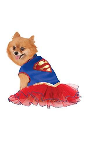Rubies DC Superman Supergirl Pet Superhero Tutu Dress (Tutu Kostüme Superman)