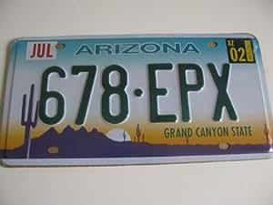 Plaque d'immatriculation americaine decorative USA Arizona