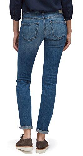 TOM TAILOR Damen Jeans Slim Alexa with Studs mid stone wash denim