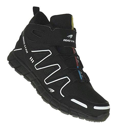 Skater Tops High Schuhe (Bootsland Art 657 High Top Outdoor Boots Stiefel Herrenstiefel Herren Schuhe Skater, Schuhgröße:43)