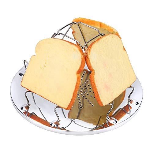 Toast Rack de Acero Inoxidable Camping Estufa tostadora Plegable Tostada Plegable Desayuno Rack para Acampar al Aire Libre Picnic