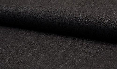 Qualitativ hochwertiger Denimstoff, Jeansstoff in Dunkelblau, elastisch als Meterware zum kreativen Nähen von Erwachsenen- und Kinderkleidung, 50 cm