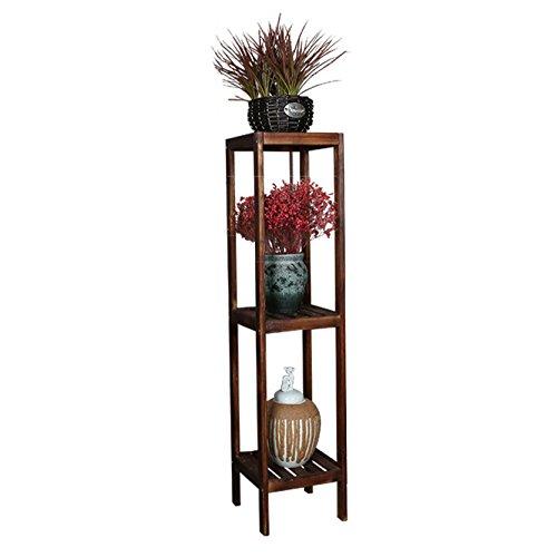 Stand De Fleurs en Bois Escalier Stand Stand Balcon Pot De Fleurs Rack Jardin Stockage Intérieur Rack 3 Couches -28 * 28 * 115cm