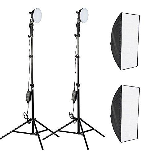 PMS LED Softbox 2 x 50x70cm - Ventana de Luz para fotografía:...