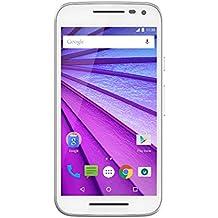 """Motorola Moto G (3ª Generación) - Smartphone Android 5.0, de 5"""" (4G, cámara 13 Mp, 8 GB, Quad Core 1.4 GHz, 1 GB de RAM), color blanco"""