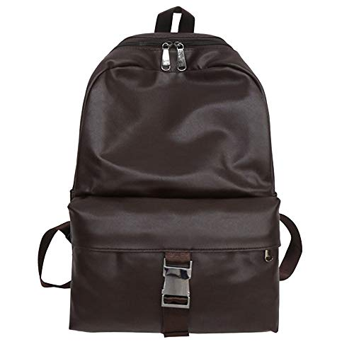 SANFASHION Sacs Sac à dos école en cuir sac à dos vintage en cuir neutre étudiant cartable - marron