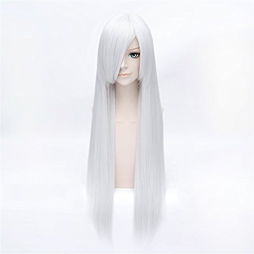 LanTing K RETURN OF KINGS Kushina Anna Silver White Long Styled Woman Cosplay Party Fashion Anime (Womens Anna Kostüme)