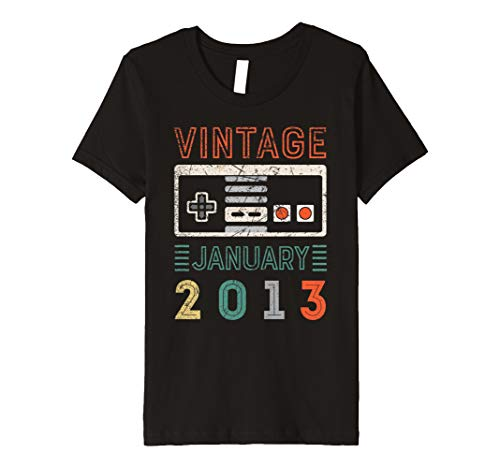 Youth Vintage January 2013 6th Birthday Shirt 6 Year Old