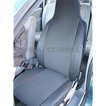 A un Ford Focus fundas de asiento antracita con ribete de piel sintética, 2frentes