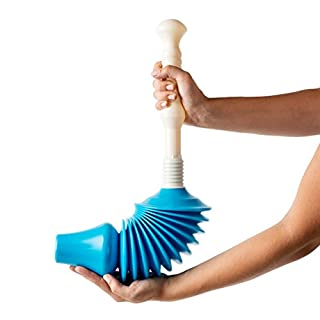 Powerful Toilet Plunger and Unblocker - Heavy Duty Tool to Easily Clear All Blocked Toilets