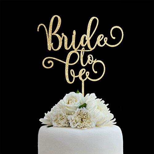 qidushop Bridal Dusche Tortenaufsatz, Hochzeit, Braut, um werden Hochzeit Kuchen Topper Herr Frau Silhouette Braut und Bräutigam Hochzeit Geschenk Hochzeit Party Deko