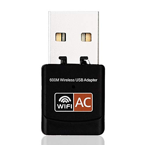 HoganeyVan 2019 Newest 2.4GHz 5GHz Wireless WiFi Adapter Computer Network Card AC600Mbps USB WiFi Aerial Dual Band Mini PC WiFi Adapter
