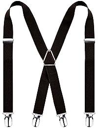 1f19512a39020 Alizeal-Unisexe-Bretelles Réglable 2.5cm de Largeur-4 Clips