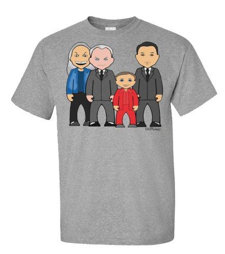 VIPwees Strange Peaks T-shirt da uomo Grey