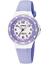 Lorus - RRX51CX9 - Montre Fille - Quartz - Analogique - Aiguilles lumineuses - Eclairage - Bracelet Caoutchouc violet