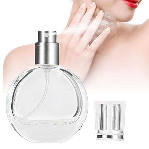 Tragbare leere transparente Parfüm-Sprüher-Flasche, kosmetischer flüssiger Spray-Behälter -