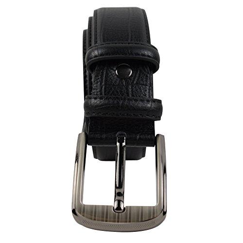 Preisvergleich Produktbild DJ16012 Men Casual Elegant Ledergürtel Herrengürtel von mit Automatikschnalle verschiedene Modelle in edler Geschenkbox - Länge verstellbar