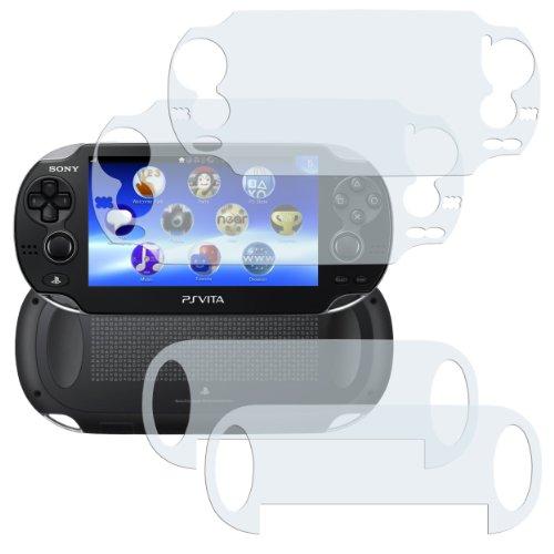 4x mumbi Displayschutzfolie für Sony PlayStation Vita Schutzfolie / 2 x VORDERseite + 2 x RÜCKseite (Nicht für PS Vita Slim)