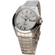 Seiko SNKK87K1 - Reloj con correa de acero para hombre, color plateado / gris