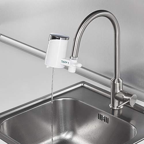 Tapp 1 – Wasserfilter Für Den Wasserhahn Von Tapp Water (Reduziert Chlorgehalt, Kalk, Schwermetalle), Weiß, Chrome, 1500 Liter - 2