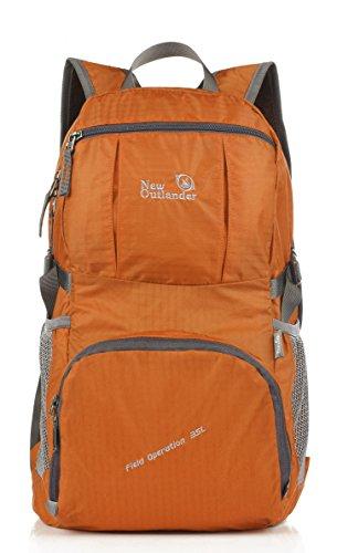 35 l Outlander Tagesrucksack, handlich, leicht, für Reisen/Wandern. Orange - orange