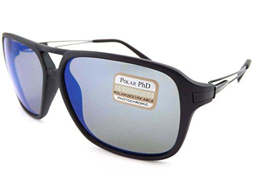 Serengeti raso nero venezia occhiali da sole con lenti polarizzate 555nm blu 8193