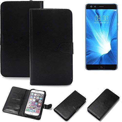 K-S-Trade® 360° Wallet Case Handyhülle Für Nubia Z17 Mini S Schutz Hülle Smartphone Flip Cover Flipstyle Tasche Schutzhülle Flipcover Slim Bumper Schwarz, 1x