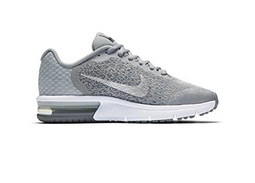 Nike Mädchen Air Max Sequent 2 Laufschuhe Wolf Grey/Cool Grey/Pure Platinum/Metallic Silver