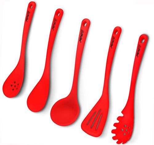 iNeibo Kitchen mestoli cucina silicone professionali con