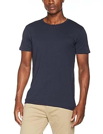ESPRIT Herren T-Shirt 997EE2K819, Blau (Navy 400), Small