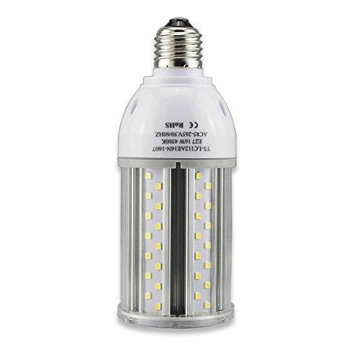 Tongsung LED-Lampen, 16W Natürlich Weiß (4500K) Mit breitem Eingangsspannung AC85V-265V, Super Bright Light Output(1660 LM), Mit Aluminiumlegierung Bau und Staubschutz (Schutzstufe : IP64). E27 Cap