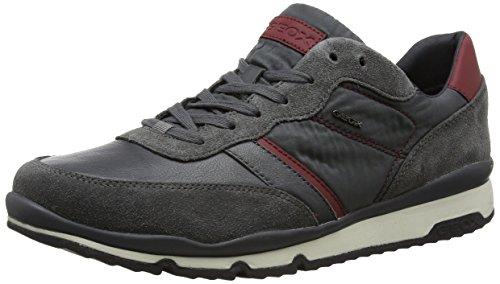 Geox U Sandford B, Sneakers Basses Homme, Gris