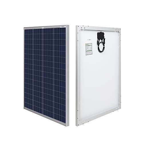 HQST 100W 12 Volt Solarmodul Polykristallin Solarpanel Photovoltaik Solarzelle Ideal zum Aufladen von 12V Batterien