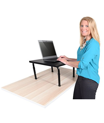 Sitz-stehtisch (Höhenverstellbarer Schreibtisch (Schreibtisch Länge: 60cm))