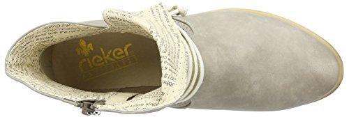 Rieker - Y2556, Stivali Donna Grigio (Grau (elefant/beige / 42))