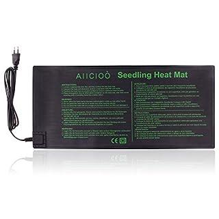 AIICIOO Setzling-Heizmatte - Samen-Propagierungs-Wärmematte für Setzling, warme Hydroponik-Heizkissen Durable Waterproof CE-Zertifiziert 100% sicher, (9.3