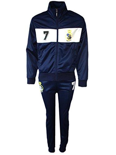 AEL Fußball Trainingsanzug Jungen Top Training Kit Set Farbe: Madrid Größe: 7-8 Jahre / 8 -