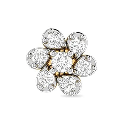 PC Jeweller The Gair 18KT Yellow Gold and Diamond Nose Pin for Women