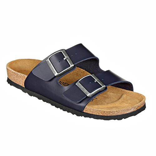 JOE n JOYCE London Synsoft Unisex Sandalen Pantoletten Narrow Blue