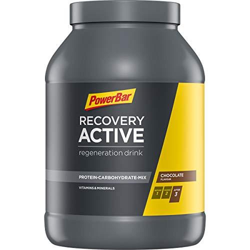 PowerBar Recovery Active Mehrkomponenten-Protein aus Casein, Whey und Soja - Protein-Pulver mit Kohlenhydrate, Vitamine und Mineralstoffe - 1.2 kg Chocolate